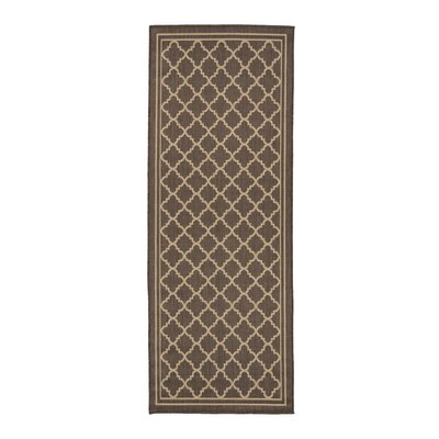 Chapman Mocha Trellis Indoor/Outdoor Area Rug Rug Size: Runner 2'7