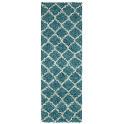 Radford Soft Turquoise Shaggy Area Rug Rug Size: Runner 27 x 80
