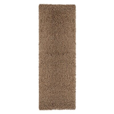 Ultimate Shaggy Soft Cozy Beige Area Rug Rug Size: Runner 27 x 80