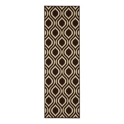 Rose Brown Area Rug Rug Size: Runner 18 x 411