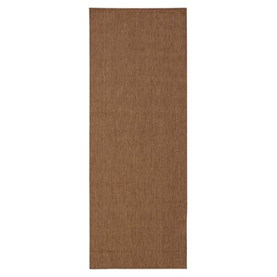 Summer Brown Outdoor Area Rug Rug Size: Rectangle 27 x 7
