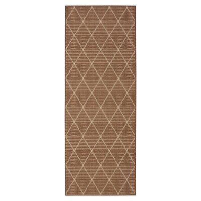 Summer Geometric Trellis Brown Indoor/Outdoor Area Rug