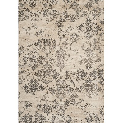 Valmer Stone Beige Area Rug Rug Size: Rectangle 53 x 76