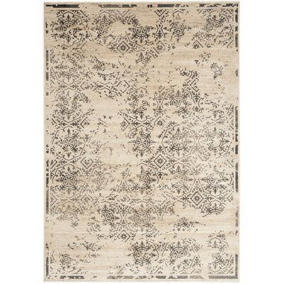 Vintage Stone Contemporary Rug Rug Size: 53 x 76