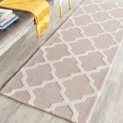 Kirschbaum Hand-Woven Wool Dark Beige/Ivory Area Rug Rug Size: Runner 26 x 8, Finish: Red