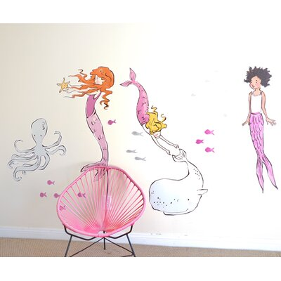 Sarah Jane Mermaids Wall Decal Size: Large 3008