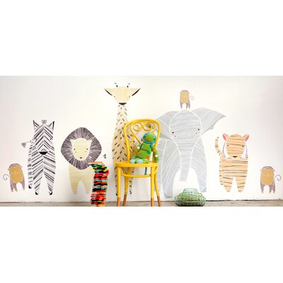 Gingiber 8 Piece Safari Animal Wall Decal Set 4015