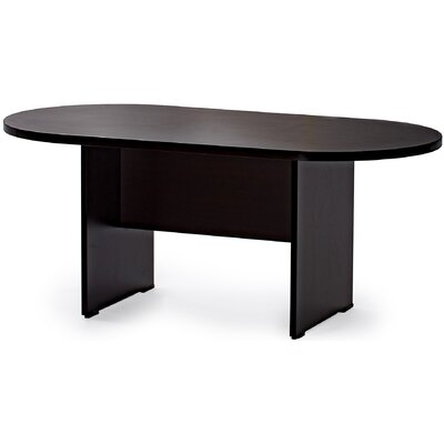 Racetrack/Oval 36W Conference Table Finish: Espresso