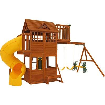 Abbeydale Clubhouse Wooden Swing Set F23920