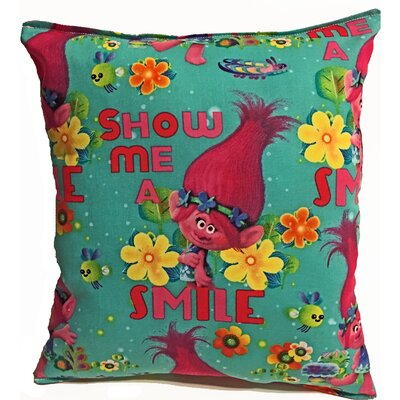 Trolls Cotton Throw Pillow