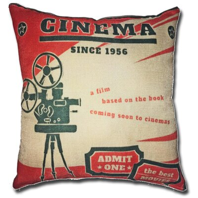 Cinema Movie Theater 100% Cotton Throw Pillow