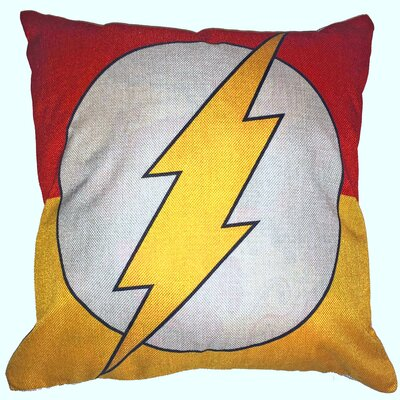 Flash Superhero Cotton Throw Pillow