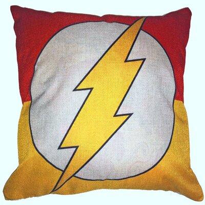 Flash Superhero Cotton Throw Pillow