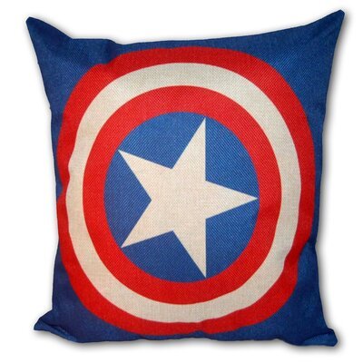 Captain America Superhero Cotton Throw Pillow