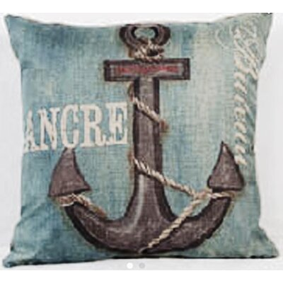 Anchor/Ancre 100% Cotton Throw Pillow