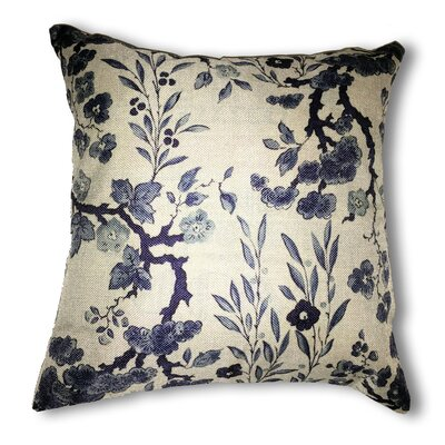 Floral Damask Jaquard Throw Pillow