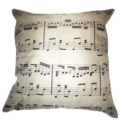 Sheet Music 100% Cotton Throw Pillow