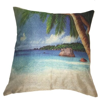 Beach Vista Cotton Throw Pillow