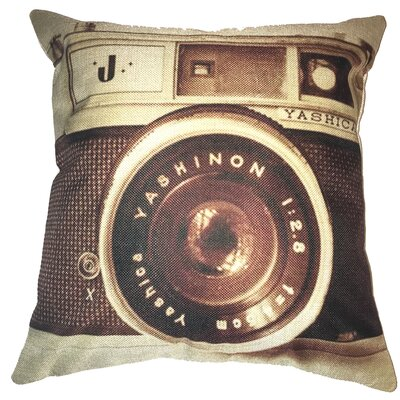Classic Retro Camera 100% Cotton Throw Pillow