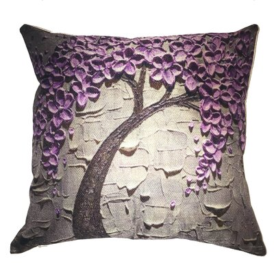 Purple Flower Tree Throw Pillow