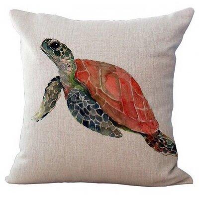 Nanticoke Sea Turtle Canvas 100% Cotton Throw Pillow