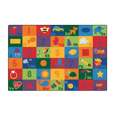 Sequential Literacy Seating Area Rug Rug Size: 4 x 6