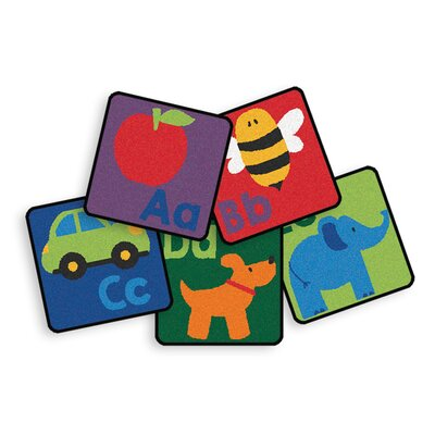 26 Piece Sequential Literacy Seating Square Area Rug Set