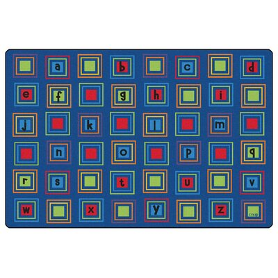 Literacy Squares Seating Kids Rug Rug Size: Rectangle 6 x 9