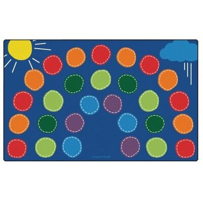 Rainbow Seating Area Rug Rug Size: 76 x 12