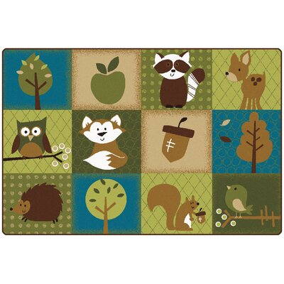 Nature's Friends Toddler Area Rug Rug Size: 6' x 9'