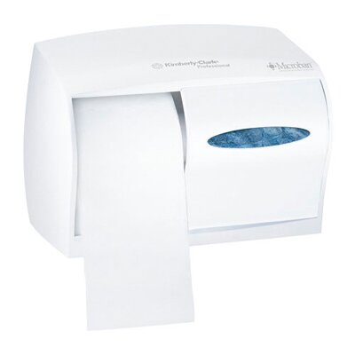 In-Sight Double Roll Coreless Tissues Dispenser in Pearl White