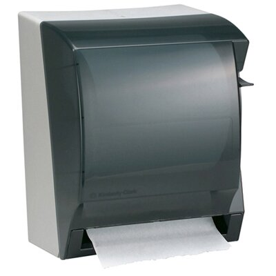 "Kimberly-Clark 12"" In-Sight Lev-R-Matic Roll Towel Dispenser in Smoke / Gray at Sears.com"