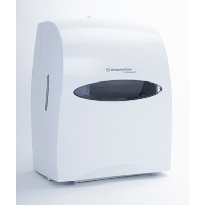 Electronic Touchless Towel Dispenser in Pearl White