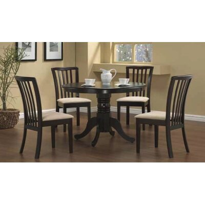 Huling 5 Piece Dining Set Color: Capuccino