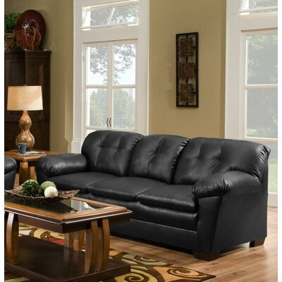 Weaver Sofa Upholstery: Black