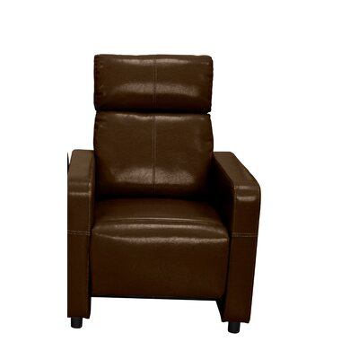 Ketter Manual Recliner Upholstery: Brown