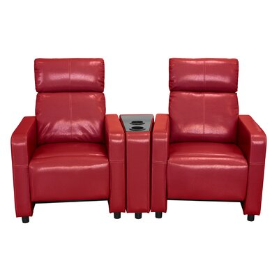 Ketter Home Theater Loveseat Upholstery: Red