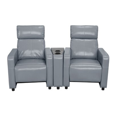 Ketter Home Theater Loveseat Upholstery: Gray