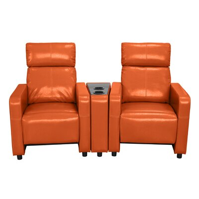 Ketter Home Theater Loveseat Upholstery: Orange