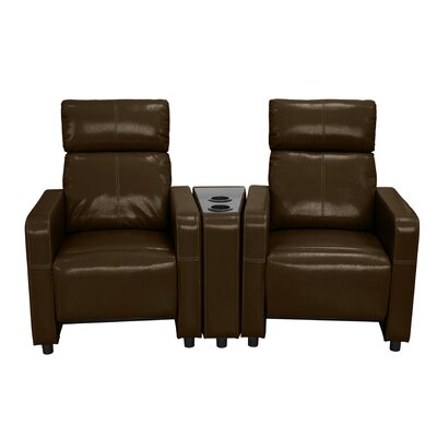 Arcadia 2 Piece Recliner Set Upholstery: Brown 2151-2PC-BRN