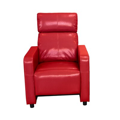 Ketter Manual Recliner Upholstery: Red