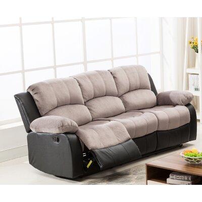 Anaheid Reclining Sofa Upholstery: Gray