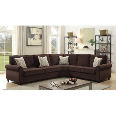 Amelia Sleeper Sectional Upholstery: Chocolate