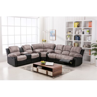 Latitude Run LRUN3474 Addison Theater Reclining Sectional Upholstery