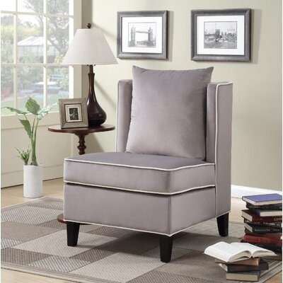 Landen Slipper Chair Upholstery: Gray