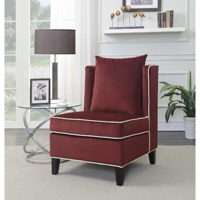 Landen Slipper Chair Upholstery: Red
