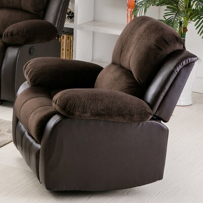 Addison Recliner Upholstery: Brown