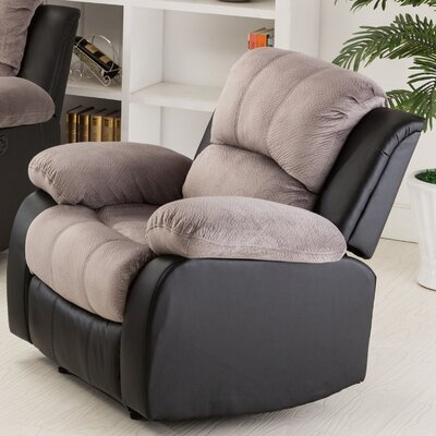 Anaheid Manual Recliner Upholstery: Gray