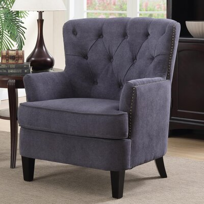 Alpha Tufted Armchair Upholstery: Gray