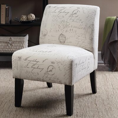 Ardane Printed Script Slipper Chair